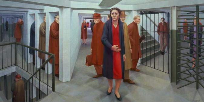 George Tooker, Subway, 1950