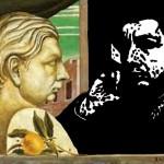 De Chirico, Autoritratto (elab. grafica Marcello Comitini)