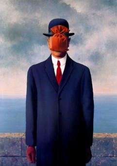 Renè Magritte, Il figlio dell'uomo, 1964 (rielaborazione grafica)