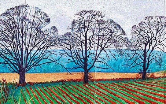 Davide Hockney, Alberi, 1937