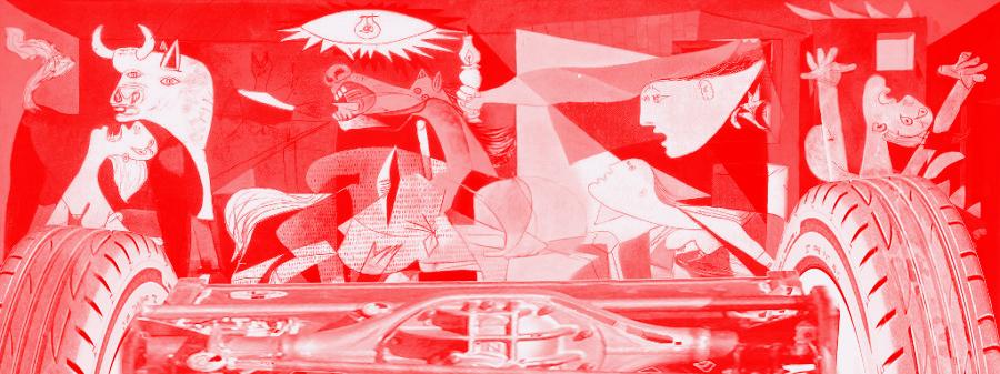 Guernica macchiata di sangue Elab. graf. su opera di Picasso