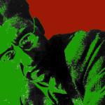 Cesare Pavese, rielaborazione grafica di foto tratta dal film documentario di Alain Bergala