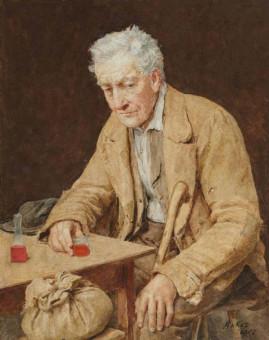 Albert Anker, Il bevitore, 1907