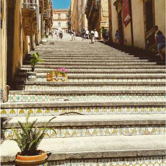 Caltagirone, Scalinata Santa Maria del Monte – foto di Laura Galvagno