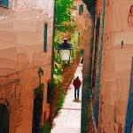Vicolo toscano (Scansano), foto e elab. grafica Marcello Comitini