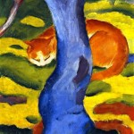 Franz Marc, Cat behind a Tree, 1910