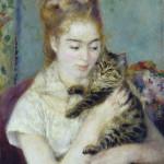 Renoir, Donna con gatto,1875