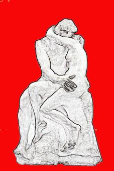 Auguste Rodin, Il bacio, 1882