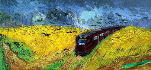 Immagine elaborata da Campo di grano di Van Gogh