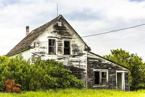 La casa abbandonata, fotoeleborazione
