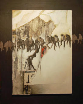 Edgar Caracristi, Senza titolo, 2017 (tecnica mista su tavola)