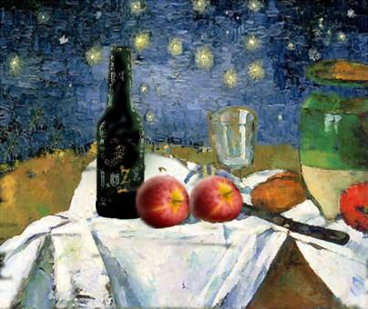 Dipinto ispirato a Cezanne e Van Gogh