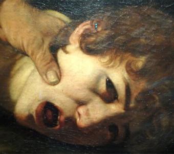 Caravaggio,Sacrificio di Isacco (part.)