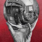 Maurits Cornelis Escher, Mano con sfera riflettente, litografia, 1935